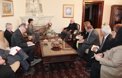 Delegates from 6 World Affairs Councils met with President Karzai