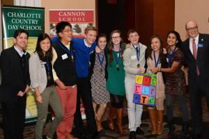1st Place Academic WorldQuest Winners: Myers Park High School